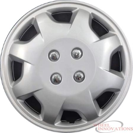 Inch Aftermarket Silver Hubcaps/Wheel Covers Set