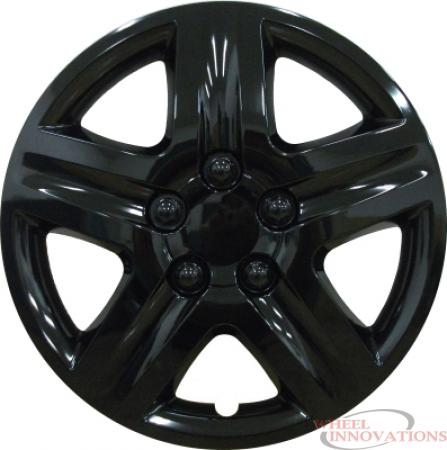 16 Inch Aftermarket Gloss Black Hubcaps/Wheel Covers Set