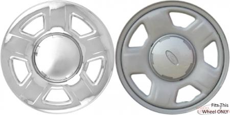 Ford Escape, Mazda Tribute Chrome Wheel Skins (Hubcaps/Wheelcovers) 15 Inch Set