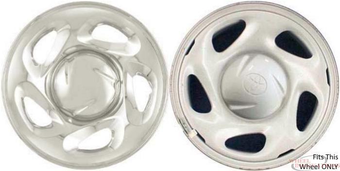 Set of 4 Mayde Hubcaps 16 inch Titan Gray Metallic Wheel Covers fits 16 inch Wheels